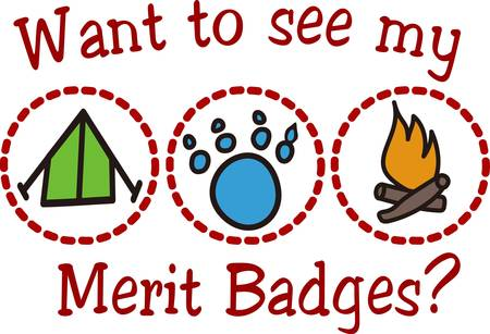 merit: Junior Ranger programs help kids learn about our wilderness and how to protect it.  Create a special jacket with this design for your little ranger.