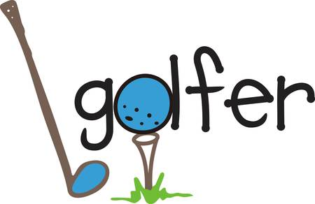 hole in one: A fun and whimsical design just for the golfer  Tee up for a hole in one and create a perfect golf towel decorated with this fun design