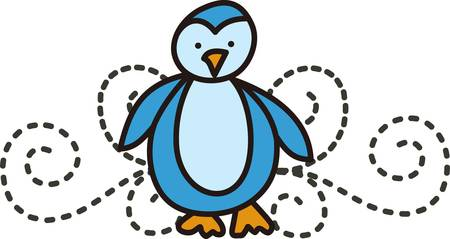 Penguins are a sure way to cause a smile.  Add this happy bird to robes shower curtains and towels for your tykes bath