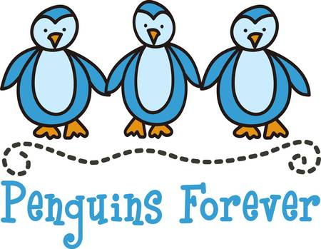 antarctic: Penguins are a sure way to cause a smile.  Add this happy bird trio to robes shower curtains and towels for your tykes bath