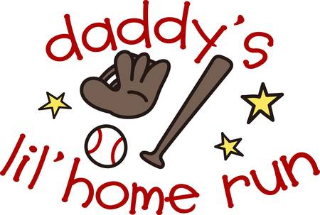A new baby brings such pride and joy to the household  especially daddy  Design a shirt around this baseball design for the new arrival.