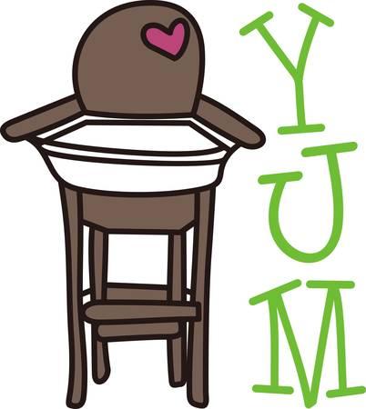 high chair: Este dise�o lindo de una silla alta es perfecto para a�adir a el regalo perfecto para los babys vivero. Mam� y pap� les encantar�