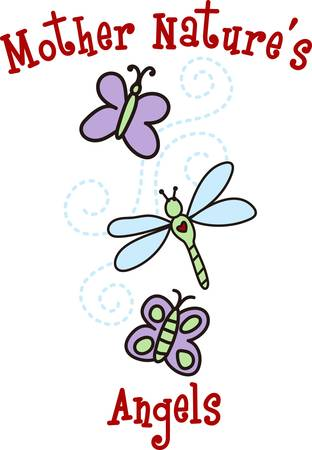natures: Butterflies are self propelled flowers. Illustration