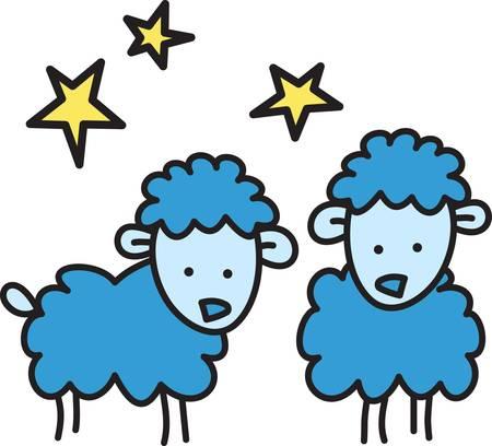 little one: Contando ovejas ayuda a dormir. Env�e su peque�o al mundo de los sue�os con estos ovejas lindas. Perfecto para la guarder�a