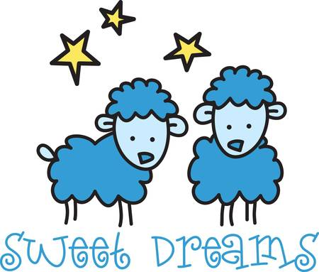 Counting sheep help you sleep.  Send your little one to dreamland with these cute sheep.  Perfect for the nursery