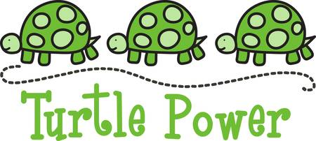critter: A sweet row of turtle babies is a cute decoration for your project.  We love it to edge kids and baby blankets and bed sheets.