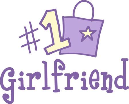 Show your girlfriend where she stands on your list  This number 1 design is a cute and visual reminder of your affection