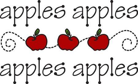 Appels in de keuken zijn een traditionele en stijlvolle decoratie. Voeg deze classy appel rij om de beste decoratie ooit