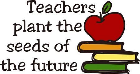 Door middel van deze boeken die we overal kunnen gaan onze verbeelding leads. Wat een passend ontwerp voor uw favoriete leraar.