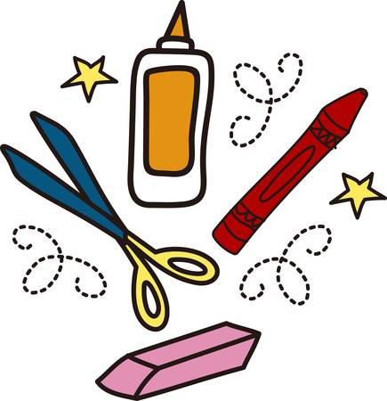 We are ready to make something spectacular  Get crafting with all the supplies you need.  This fun drawing is perfect on an artist apron. Illustration