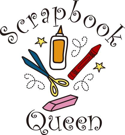 spectacular: We are ready to make something spectacular  Get crafting with all the supplies you need.  This fun drawing is perfect on an artist apron. Illustration