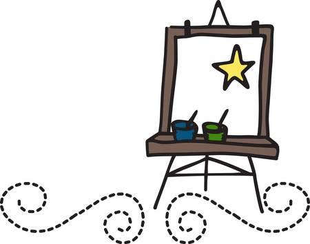 canvass: Fomentar el amor por la pintura y el dibujo. Este dise�o lindo se ve muy bien en las camisas escolares y guardapolvos de arte.