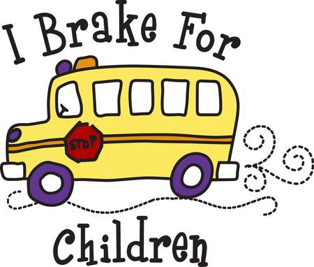 It takes a special person to drive a school bus.  Show your driver how much you care when you stitch this light hearted design onto a bag or shirt gift.