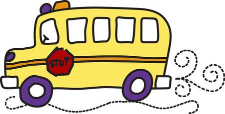 when: It takes a special person to drive a school bus.  Show your driver how much you care when you stitch this light hearted design onto a bag or shirt gift.