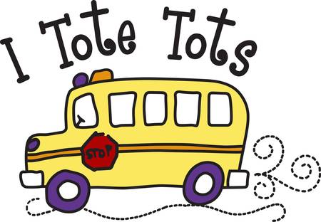 light hearted: It takes a special person to drive a school bus.  Show your driver how much you care when you stitch this light hearted design onto a bag or shirt gift.