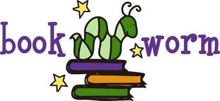 このかわいい絵は学校図書館を飾る素敵な方法を読んで得る。 それは素晴らしい本袋  イラスト・ベクター素材