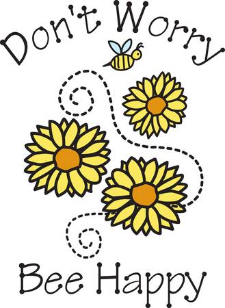 We love these pretty daisies  just as bright as summer  The little bee comes along to add just the perfect touch
