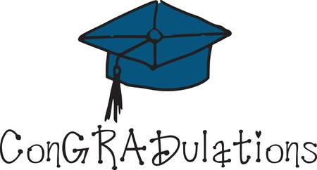 one of a kind: Create a one of a kind graduation decoration with this classic cap.  Make it personal with text like the grads name using our instant lettering tool.