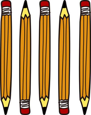 strive: Get the lead out with these classic yellow pencils  These are a great way to add some creative character to school bags art smocks or even to make a super special shirt