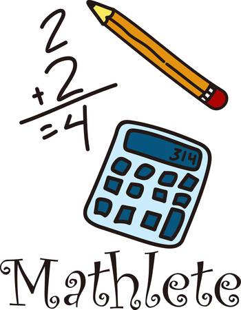 scholar: Encourage the love of math and recognize the math scholar with this light hearted drawing.  Great for students and teachers alike Illustration