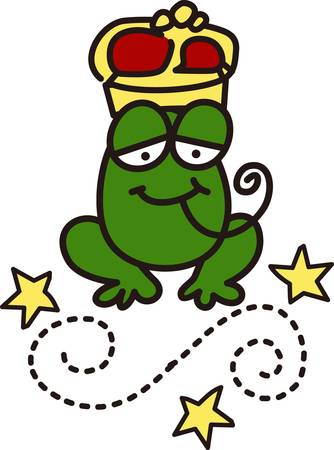 prince charming: Is this the frog that turns into a prince charming  Surely it will turn your bags hats or shirts into their most charming