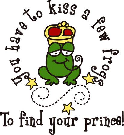 coronation: Is this the frog that turns into a prince charming  Surely it will turn your bags hats or shirts into their most charming