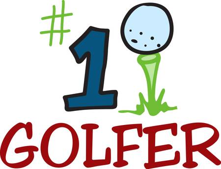 tee off: Number one sport number one player  Tee off with this top notch golf design.  Sure to be a hit Illustration