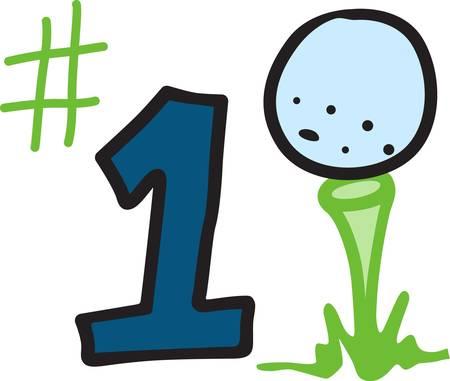 ナンバーワン スポーツ ナンバー 1 プレイヤーはこの一流のゴルフのデザインでティーオフします。 ヒットすることを確認