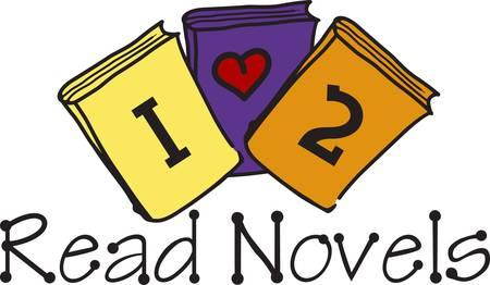 Moedig een liefde voor het lezen. Dit leuke ontwerp kijkt groot op de school shirts en de bibliotheek decor. Hoe zit het met een vlag voor de schoolbibliotheek Stock Illustratie