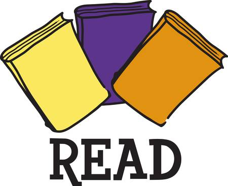 encourage: Encourage a love for reading. This cute design looks great on school shirts and library dcor.  What about a flag for the school library