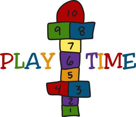 Of all the games of the schoolyard  hopscotch has to be a fav  Use this playful design to create the perfect playtime decoration