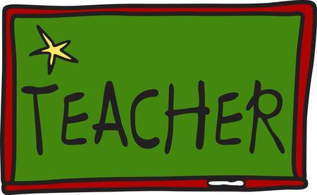 instant message: Use this blackboard design as a backdrop for a special message in text or simple drawings.  Use our instant lettering to create perfect embroidery lettering.