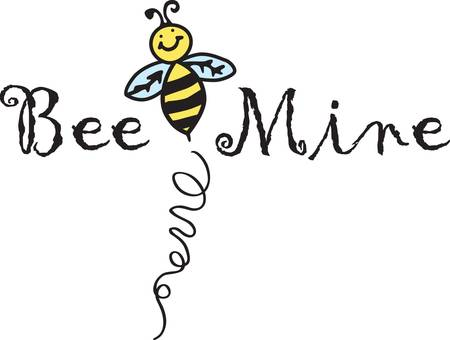 Our smiling bee reminds you to bee happy.  Add a happy touch to your creations with this cheerful bee