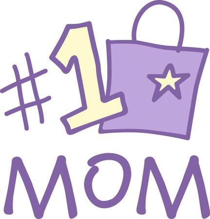 Show your mom where she stands on your list  This number 1 design is a cute and visual reminder of your affection