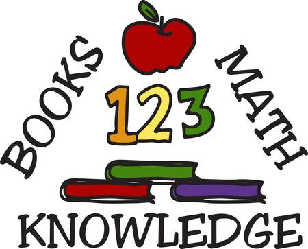childern: 123 we love to learn  Honor your favorite educator with this design on a shirt bag or book cover Illustration