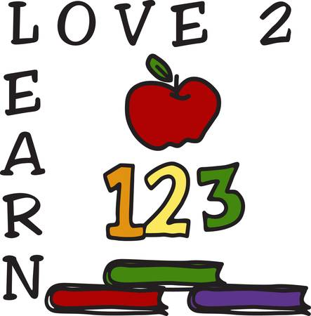 123 we love to learn  Honor your favorite educator with this design on a shirt bag or book cover Ilustração