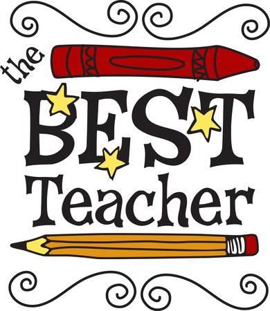 Create the perfect gift for the best teacher ever with this super cute design.  It looks amazing on hats shirts and bags