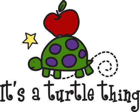 raiser: Our sweet little turtle moves on slow and steady off to school  Create something special for your school fund raiser with this fun and happy design