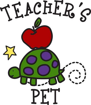 Our sweet little turtle moves on slow and steady off to school  Create something special for your school fund raiser with this fun and happy design