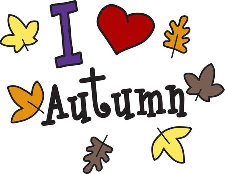embellish: Autumn creates a colorful way to decorate and embellish.  Display your love for the colors of fall with this lovely fall motif.