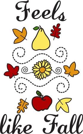 found it: We have found the perfect fall motif  This pretty design covers it all  it is perfect for tea towels placemats you name it Illustration