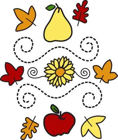 We hebben de perfecte val motief Dit mooie ontwerp omvat het allemaal het is perfect voor theedoeken placemats gevonden noem