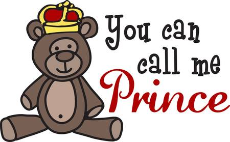 Create a special garment or gift for your special princess with this little princess bear.  She is just the sweetest little bear ever