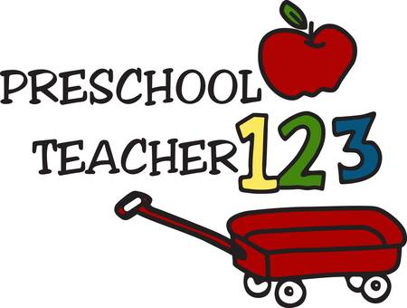 1 2 3 lets get ready for a life of learning beginning in preschool.  This childhood design is just perfect for teachers of little tykes.