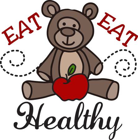 Our little bear and his apple is a perfect design for nurses or nutrition professionals.  It takes a plain lab coat to a super cute and smart coat.