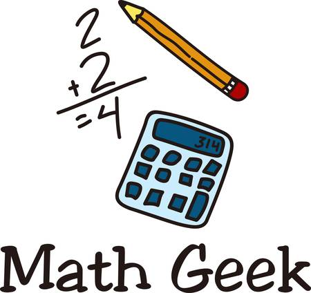 Encourage the love of math and recognize the math scholar with this light hearted drawing.  Great for students and teachers alike Illustration