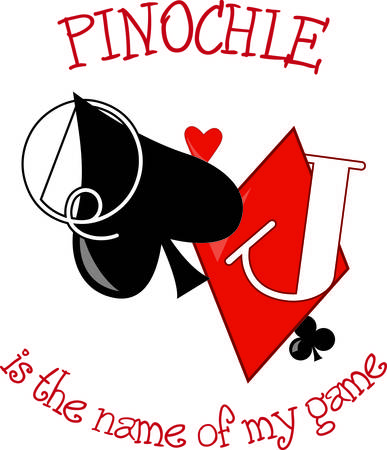 sure: Pinochle anyone  This tricktaking card game is a favorite and sure to add appeal to your garment or textile projects.