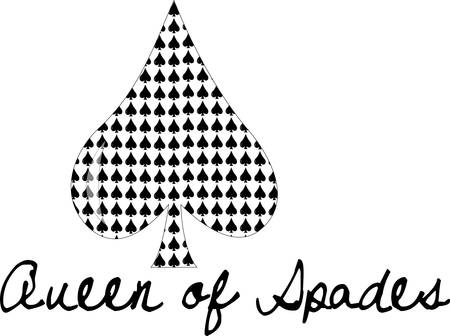 Spades of spades.  This design can add a fun element to textile decoration projects of all sorts. Illusztráció