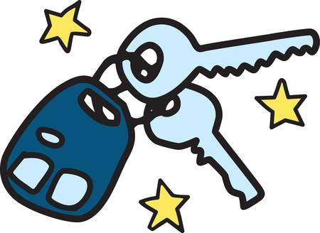 Got car keys  the world is mine to explore  This cute graphic announces Im ready to go