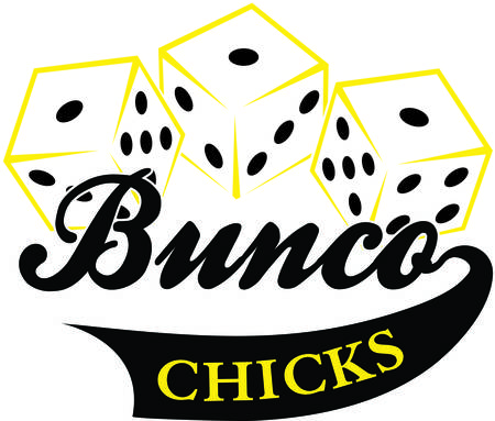 Bunco starts with a roll of the dice  What a fun visual for a the bunco babes night out Illustration